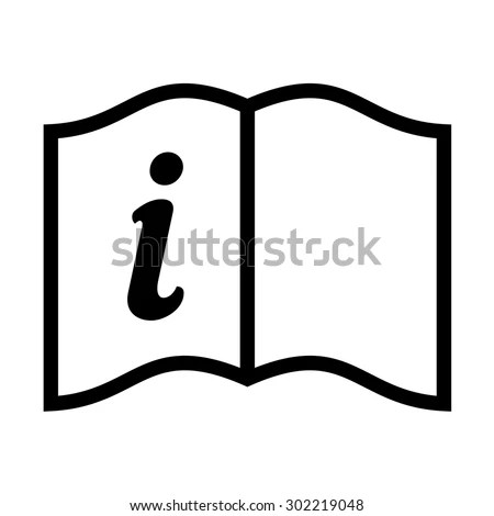 Read Instructions Symbol Vector Icon Stock Vector