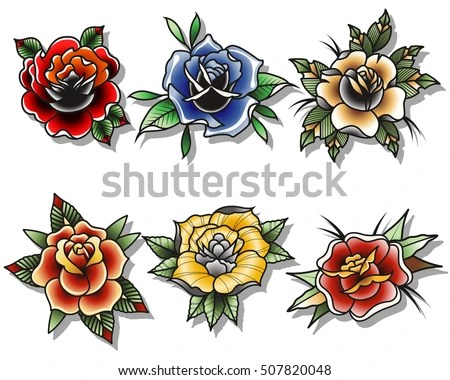 traditional tattoo rose tattoo collections
