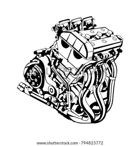 Chrome V8 Engine Stock Images, Royalty-Free Images