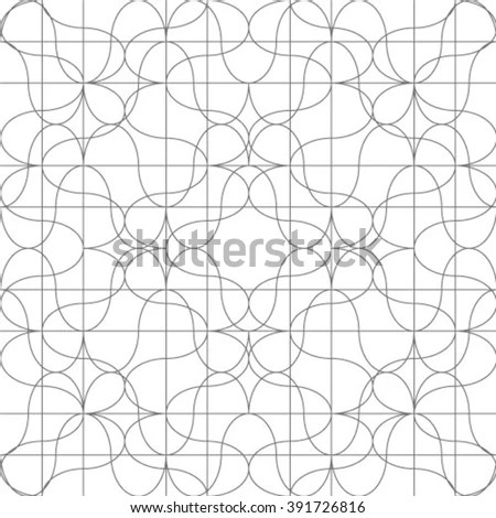 Seamless Linear Pattern Thin Polylines Polygons Stock