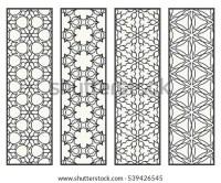 Decorative Doodle Black Lace Borders Patterns Stock Vector ...