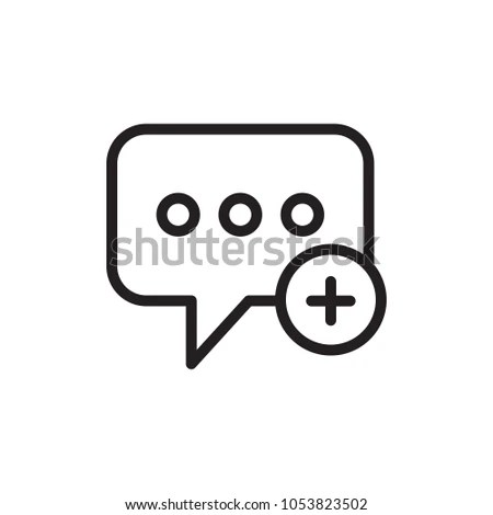 Create Message Add Message Outlined Vector Stock Vector