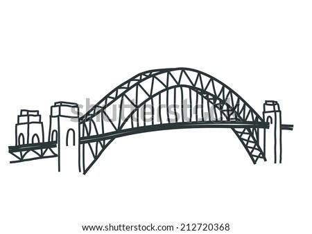 Sydney Harbour Bridge Vector Stock Vector 212720368