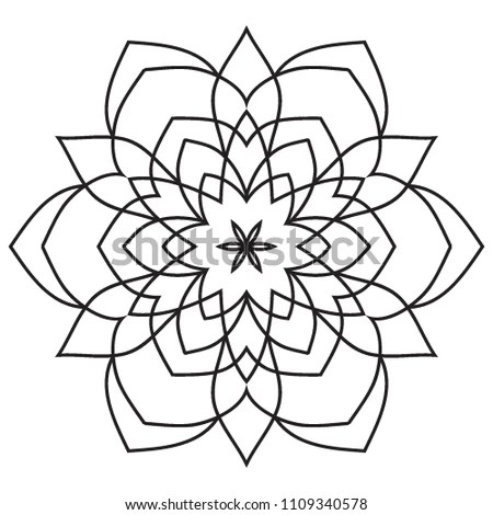 Basic Simple Easy Mandalas All Beginners Stock