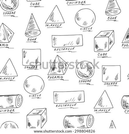 Background Hand Written Geometry Formulas Geometric Stock