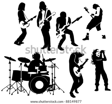 Drummer Silhouette Stock Images, Royalty-Free Images