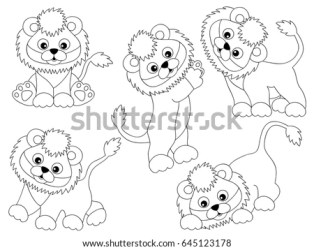 cartoon baby cute vector lion cub clipart shutterstock illustration preview