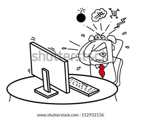 Computer Cartoons Stock Images, Royalty-Free Images