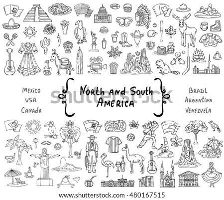 Vector Set Hand Drawn Isolated Doodles Stock Vector