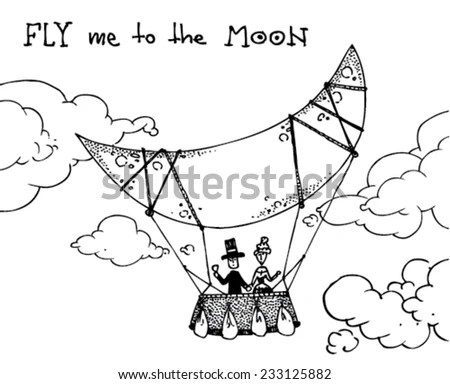 Fly Me To The Moon Stock Images, Royalty-Free Images