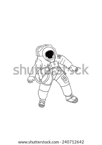 Moon Hanging Astronauts Space Mission Hand Stock Vector