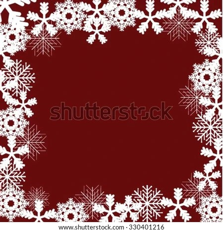 Christmas Frame Lots Decorative Ornaments Stock Vector