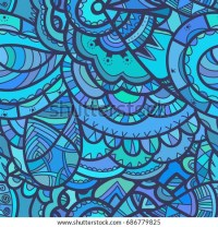 Vector Colorful Whimsical Seamless Pattern Fancy Stock ...