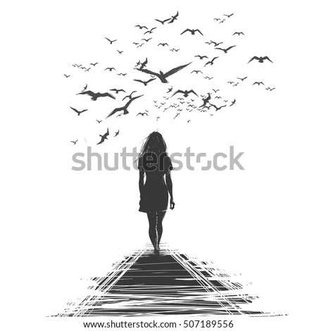 Woman Walking Away Stock Images, Royalty-Free Images