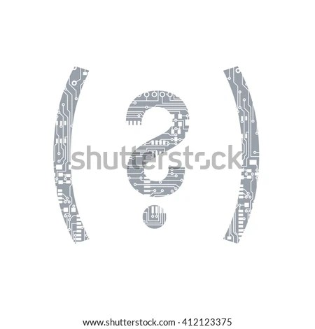 Circuit Board Symbol Open Close Parenthesis Stock Vector
