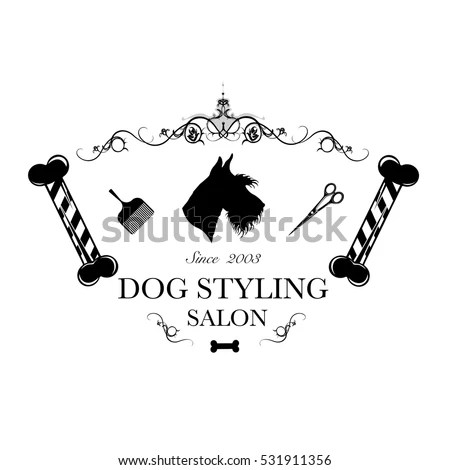 Pet Grooming Logo Stock Images, Royalty-Free Images
