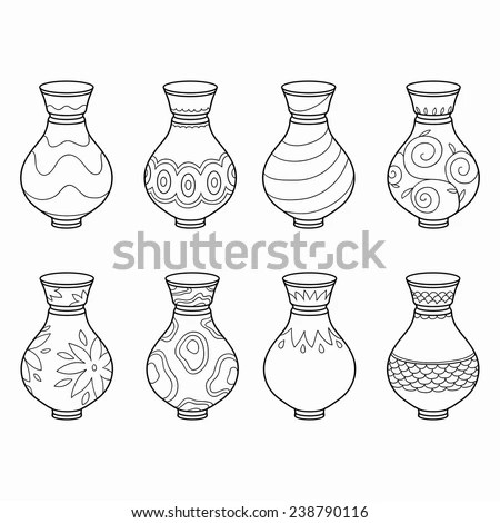 Pottery Isolated Stock Vectors & Vector Clip Art