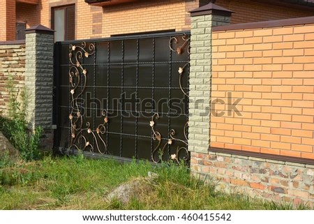 Brick Fence Stock Images, Royalty