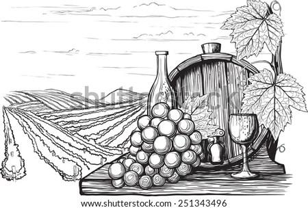 Landscape Sketch Stock Images, Royalty-Free Images