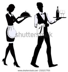 waitress waiter silhouette restaurant vector shutterstock meseros independientes zacapu welcome