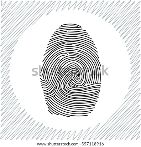 Fingerprint Becoming Barcode Vector Illustration Stock