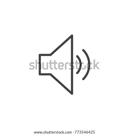 Increase Volume Line Icon Outline Vector 스톡 벡터 773546425