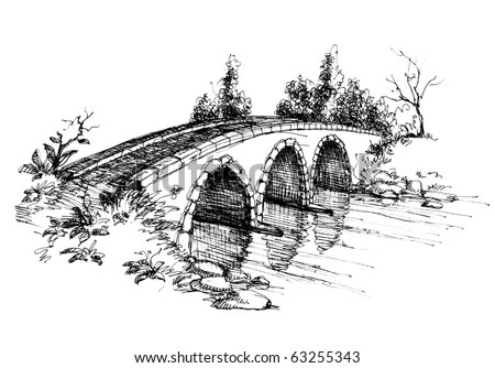 Bridge Drawing Stock Images, Royalty-Free Images & Vectors