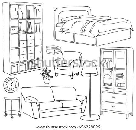 Apartment Set Design Coloring Pages