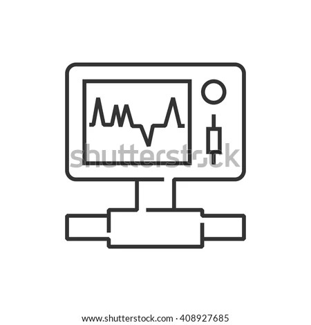 Line Icon Medical Device Icon Health Stock Vector