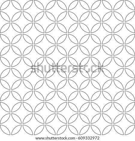 Seamless Pattern Abstract Circle Pattern On Stock Vector