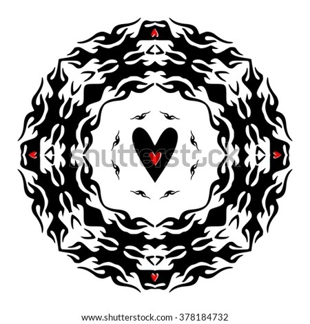 Silhouette Wolf Head Red Frame Symmetry Stock Vector