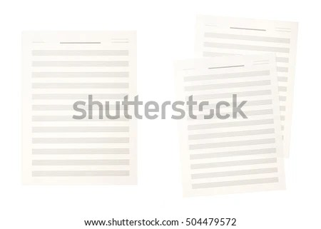 Blank Music Score Sheet Stock Images, Royalty-Free Images