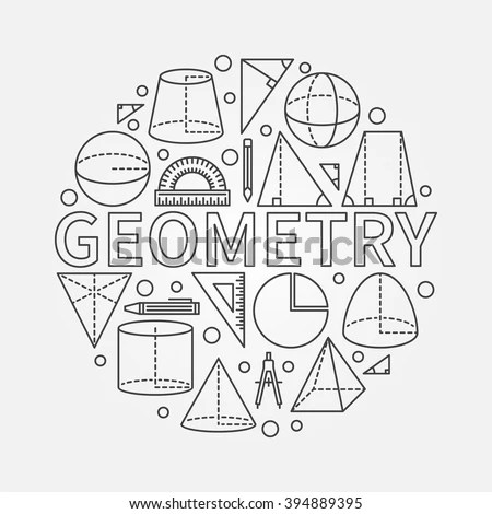 Geometry Round Symbol Vector Math Circle Stock Vector