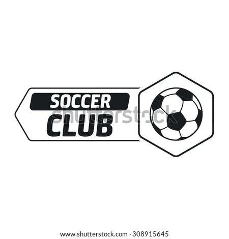 Soccer Label Sample Text Logo Template Stock Vector