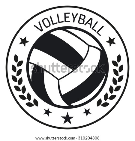 Volleyball Club Labels Sample Text Logo Stock Vector