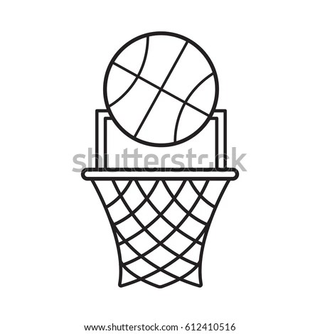 Basket Flat Vector Icon Sport Vector Stock Vector
