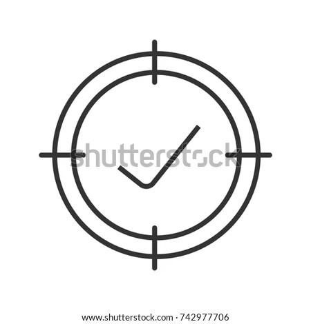 Soccer Goal Linear Icon Thin Line Stock Vector 629608313