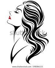 illustration women long hair style
