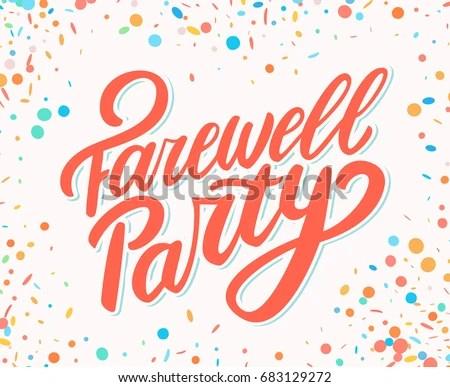 Farewell Party Banner Stock Vector 680048053 Shutterstock