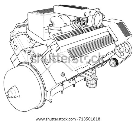 V8 Engine Piston Diagram