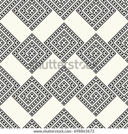 Black White Simple African Mudcloth Fabric Stock Vector