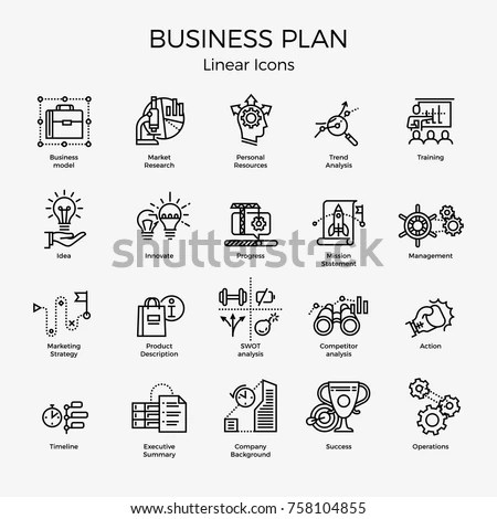 Cool Vector Set 20 Business Plan Stock Vector 758104855