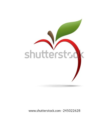 vector sign abstract apple stock