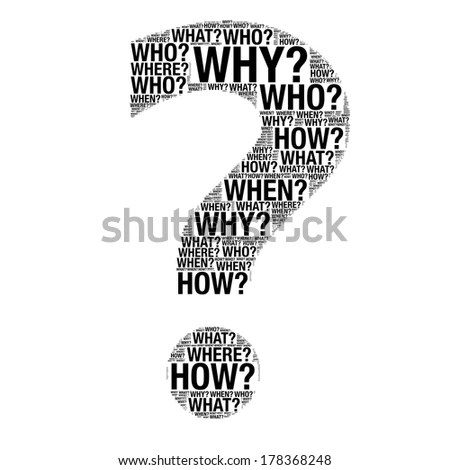Business Concept Made Question Words Drawing Stock