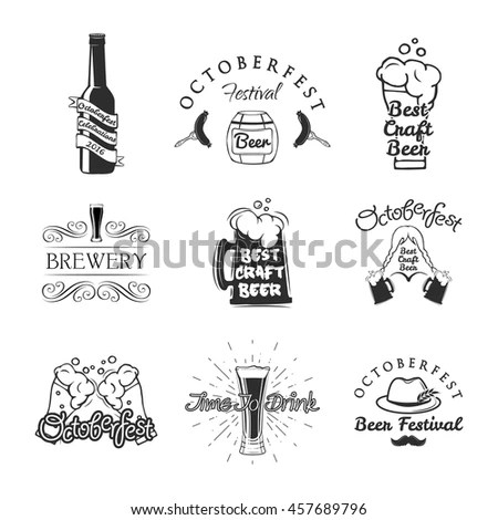 Cute Doodle Black Gold Birthday Party Stock Vector