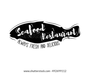 seafood restaurant silhouette fish always vector fresh illustration shutterstock preview