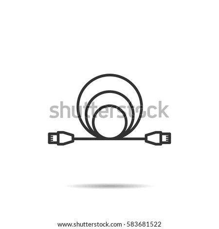 Coaxial Cable Icon Stock Images, Royalty-Free Images