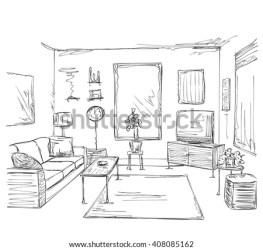 bedroom interior coloring furniture room modern template