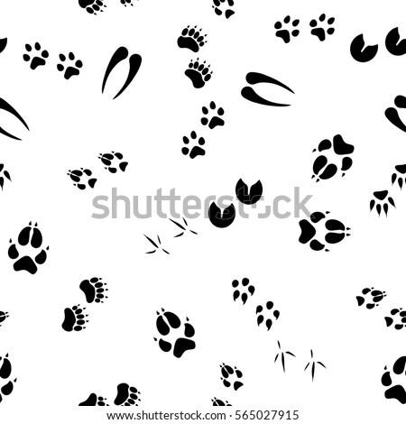 Raster Illustration Pattern Background Footsteps Footprint