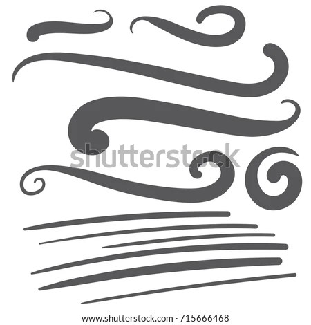 Black Squiggle Swoosh Text Font Tail Stock Vector